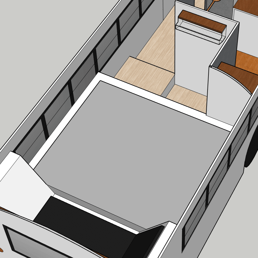 The most fun part of a skoolie build is choosing the layout. The trick is creating the space you want while paying attention to practical issues. | sincewewokeup.com | Since We Woke Up