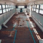 One would think the hardest part of a school bus conversion is the interior construction - but have you ever tried to deconstruct a bus? | Since We Woke Up | sincewewokeup.com