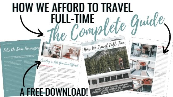 The number one question we're asked is how we make money while traveling full-time. Download the free PDF with all the answers and a workbook for you here! | sincewewokeup.com | Since We Woke Up