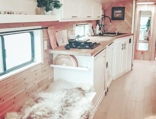 Today we're featuring Appa the Bus, a skoolie named after a giant flying bison! This bus conversion has a huge bathtub you have to see to believe. | Since We Woke Up | sincewewokeup.com